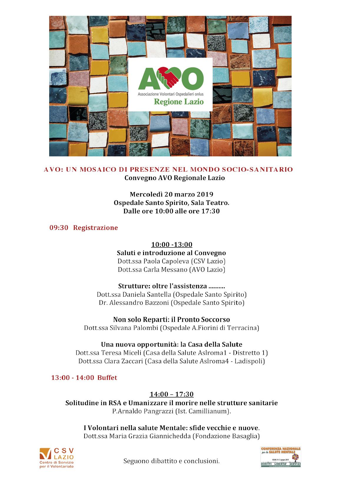 Convegno Avo Regio Lazio 20 marzo 2019
